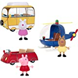 Peppa Pig Little Vehicle 3 Pack - Includes 3 Character Toy Figures like Suzy Sheep and Pedro Pony, Plus Red Car…