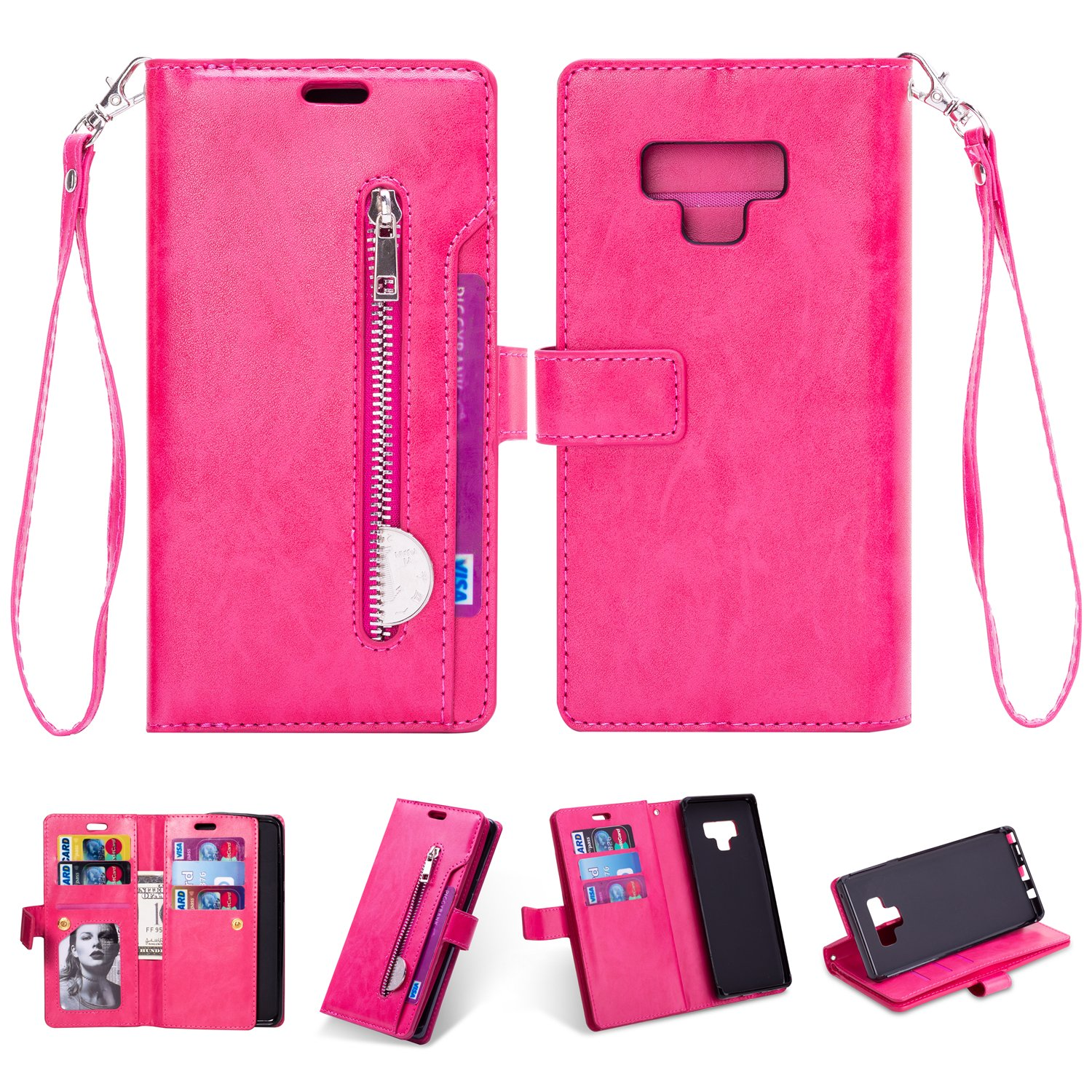 Samsung Galaxy Note 9 Plus Case Wallet,INorton Premium PU Leather Flip Stand Smart Protective Cover with Card Slots for Samsung Galaxy Note 9