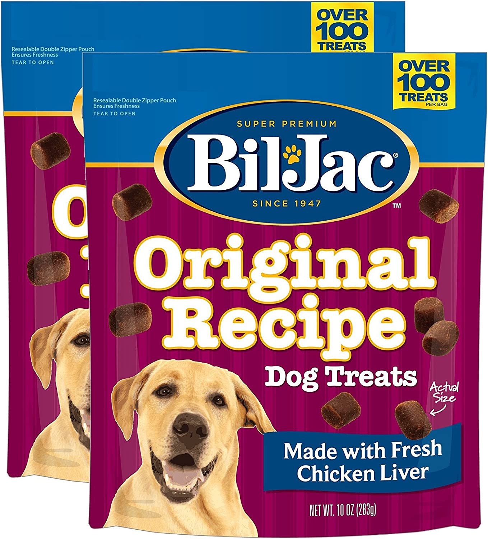 Bil-Jac Original Recipe Dog Liver Treats 10 oz, 2 Pack, Multi, 6.8 x 4 x 7.8 inches ; 1.1 pounds (319106)