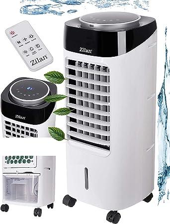 Aire acondicionado 3 en 1 con capacidad de 7 litros, 3 niveles de velocidad, dispositivo de climatización, purificador de aire, ventilador con mando a distancia, enfriador de aire, humidificador: Amazon.es: Bricolaje y herramientas