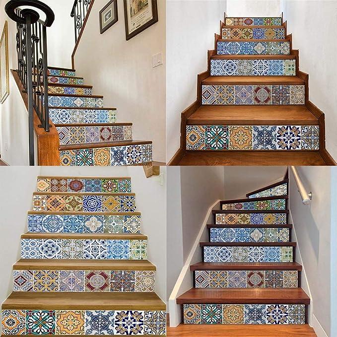 Treppen Aufkleber, Fliesenaufkleber für Bad Treppen Küche Deko ...