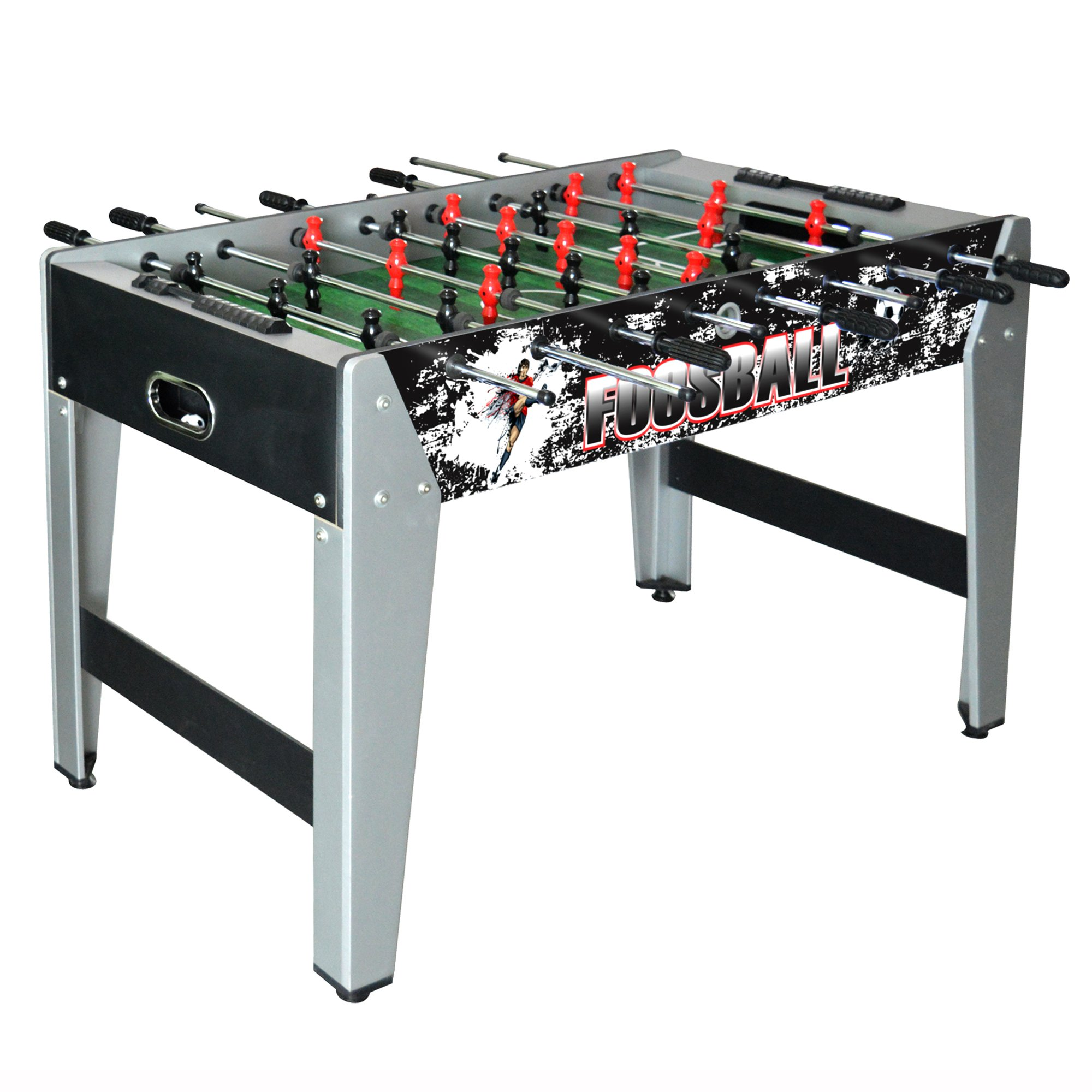Hathaway Avalanche Foosball Table Soccer Game with Ergonomic Handles for Kids and Adults, 48-in Black/Gray by Hathaway