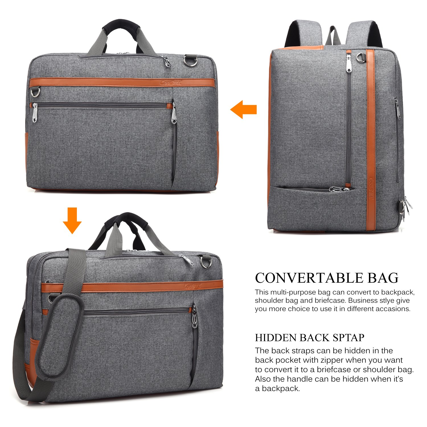 Wonderful Amazon.com: CoolBELL Convertible Backpack Shoulder bag Messenger  TM92