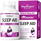 Sleep Aid with Valerian Root, Patented Suntheanine, 100% Natural, Chamomile, Suntheanine & P5P Wake Up Feeling Rested…