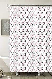 "Home Expressions Durable Waterproof Peva Shower Curtain 70""x72"" Collete Quatrefoil"