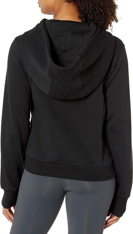 Reebok Damen Classics Starcrest Big Logo Hoodie Kapuzenpullover Schwarz