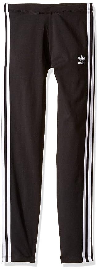 f9e0e41f3e2c6 adidas Originals Girls' Legging, Black/White, 2X-Small
