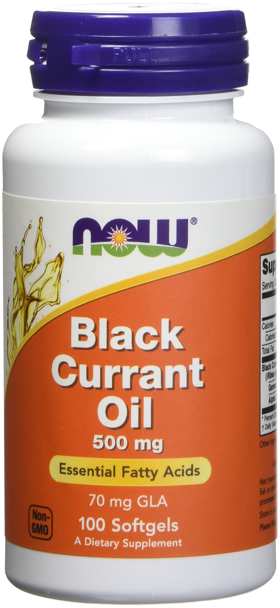 Now Foods Black Currant Oil 500 milligrams - 100 softgels (Pack of 2) by NOW Foods
