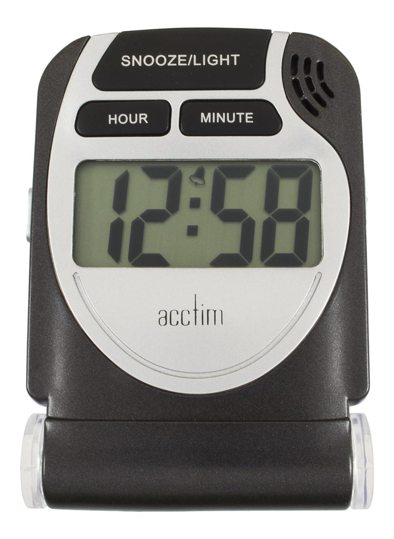 Acctim 13253 Smartlite® Travel LCD Alarm, Black