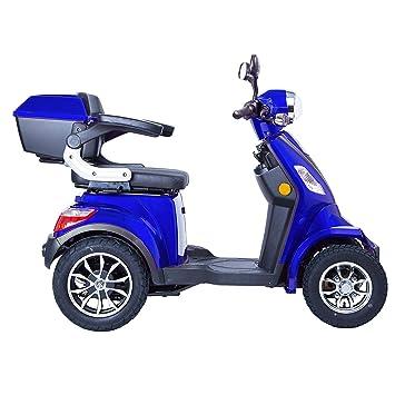 Scooter Electrico Minusvalido Moto Para Personas Mayores Vehículo De Movilidad | Scooter Electrico Adulto 4 Ruedas 1000W 25km/h AZUL: Amazon.es: Coche y ...