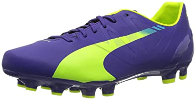 Puma Evospeed 4.3 Fg, Chaussures de football homme - Violet  (Prismviolet/Yellow/