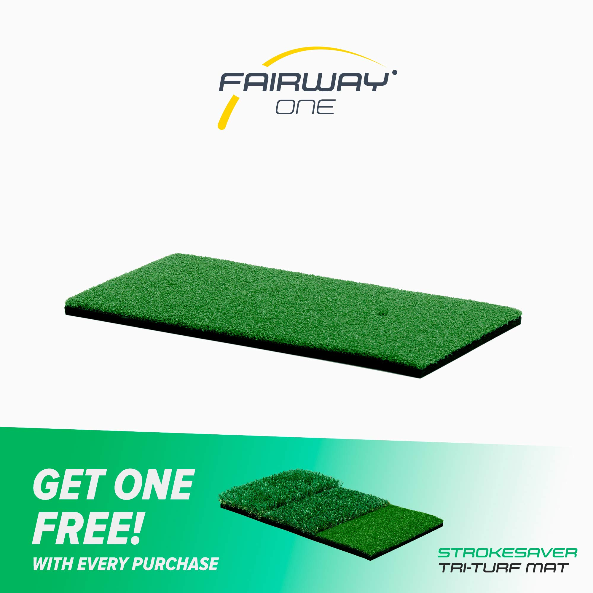 Motivo Golf Fairway One Golf Hitting Mat (1 x 2 Feet) Free Two-Day Delivery by Motivo Golf