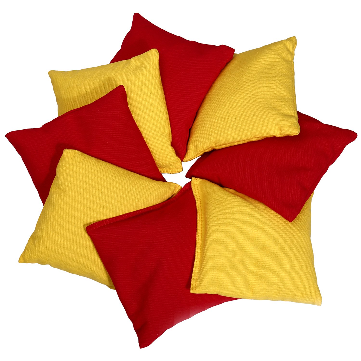 Victoria Young Set of 8 Bean Bags Carnival Toss Game, Red & Yellow