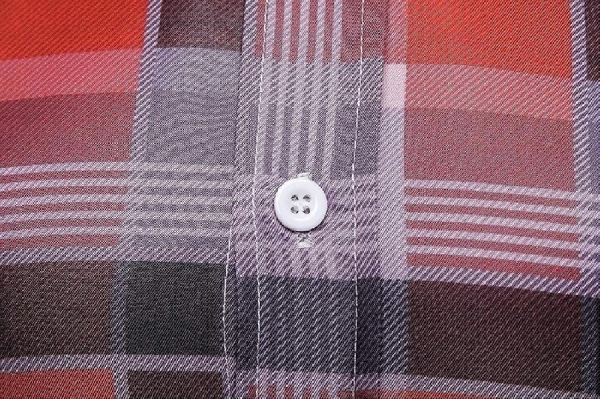 Winwinus Mens Classics Plaid Britain Plus Size Tees Polo Shirts