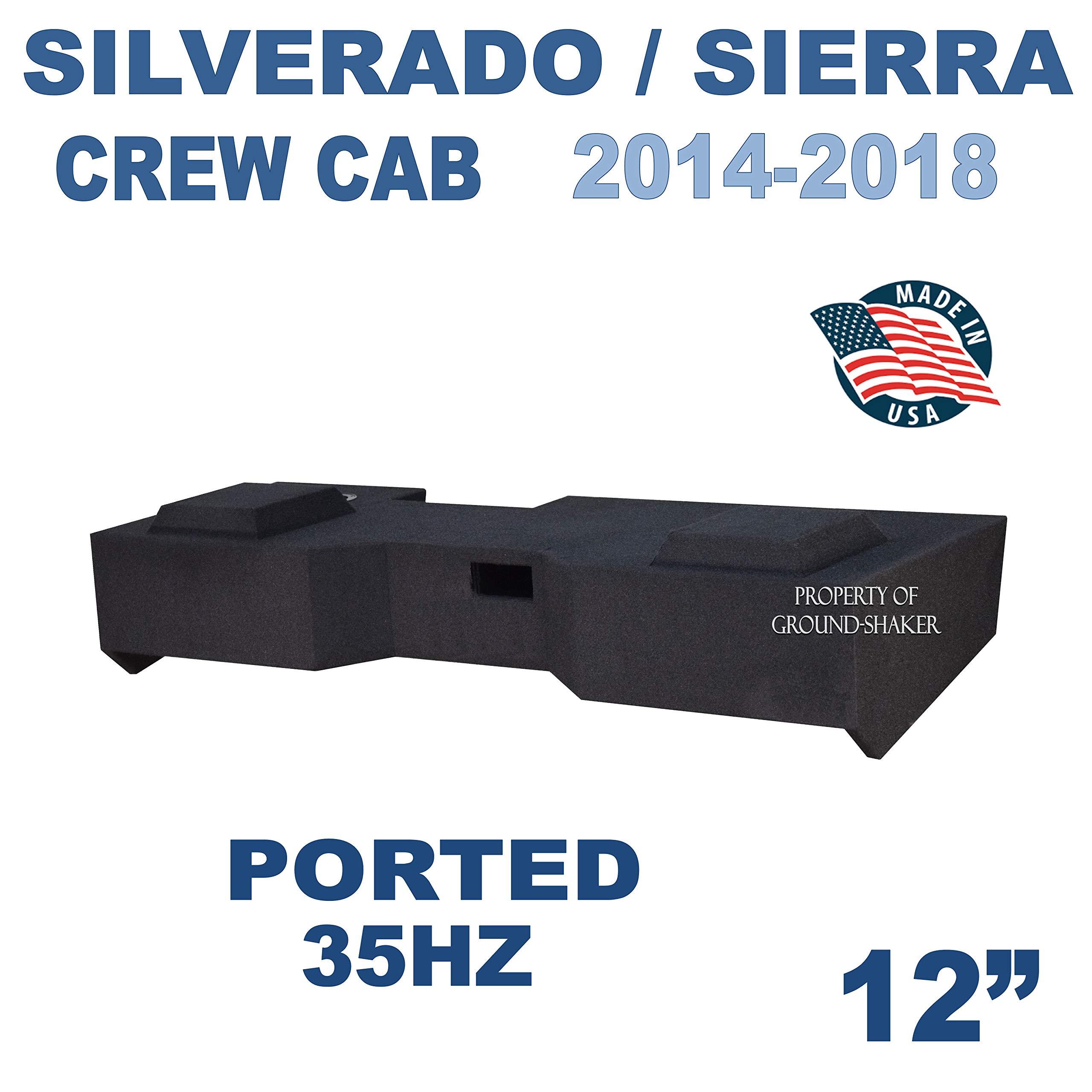 Fits Chevy Silverado & Gmc Sierra Crew-Cab 2014-2018 12'' Dual Ported Sub Box