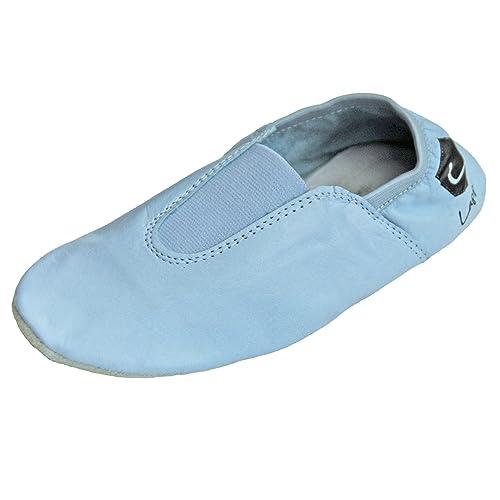 Lappa.de - Zapatillas de danza de Piel para mujer azul azul claro 42,