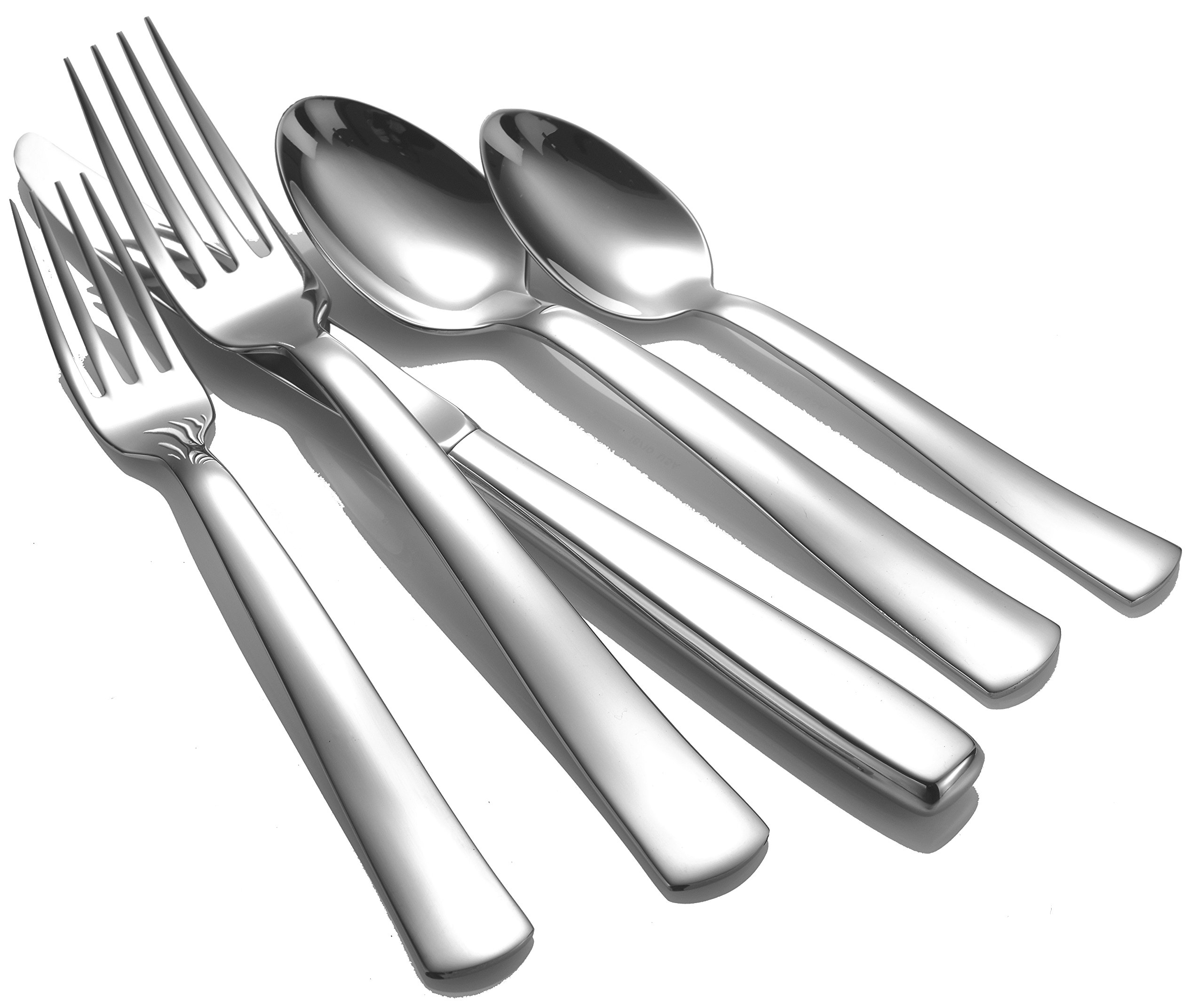 Liberty Tabletop Modern America 65-piece 18/10 Flatware Set for 12, Includes Serving Pieces Made in USA by Liberty Tabletop