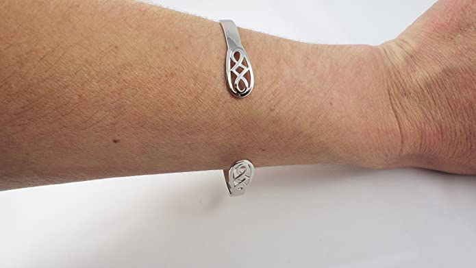 Bangle Ladies Rennie Mackintosh Style torque Sterling Silver 925, ,Christmas Gift, Mother's Day, Anniversary Gift