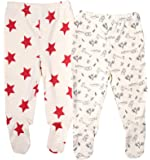 Organic Cotton Baby Pants Footed GOTS Certified Clothes Various Colors