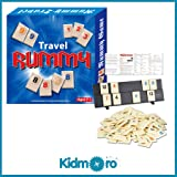 Kidmoro Rummy Tile Board Game, Mini Travel 2-4 Players