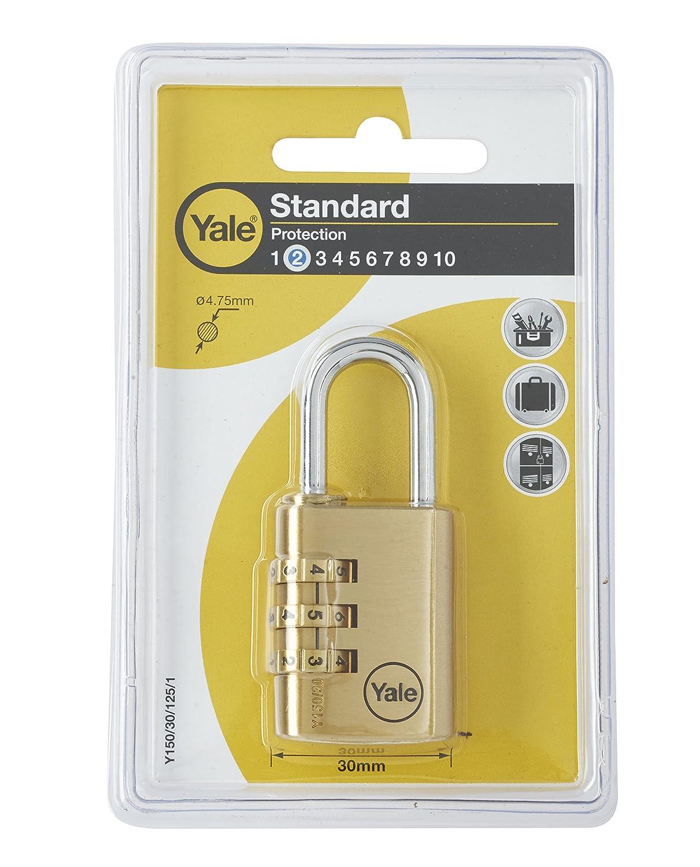 Yale Locks Y150/40/130/1 Yale Brass Combination Padlock 40 mm Toolbank