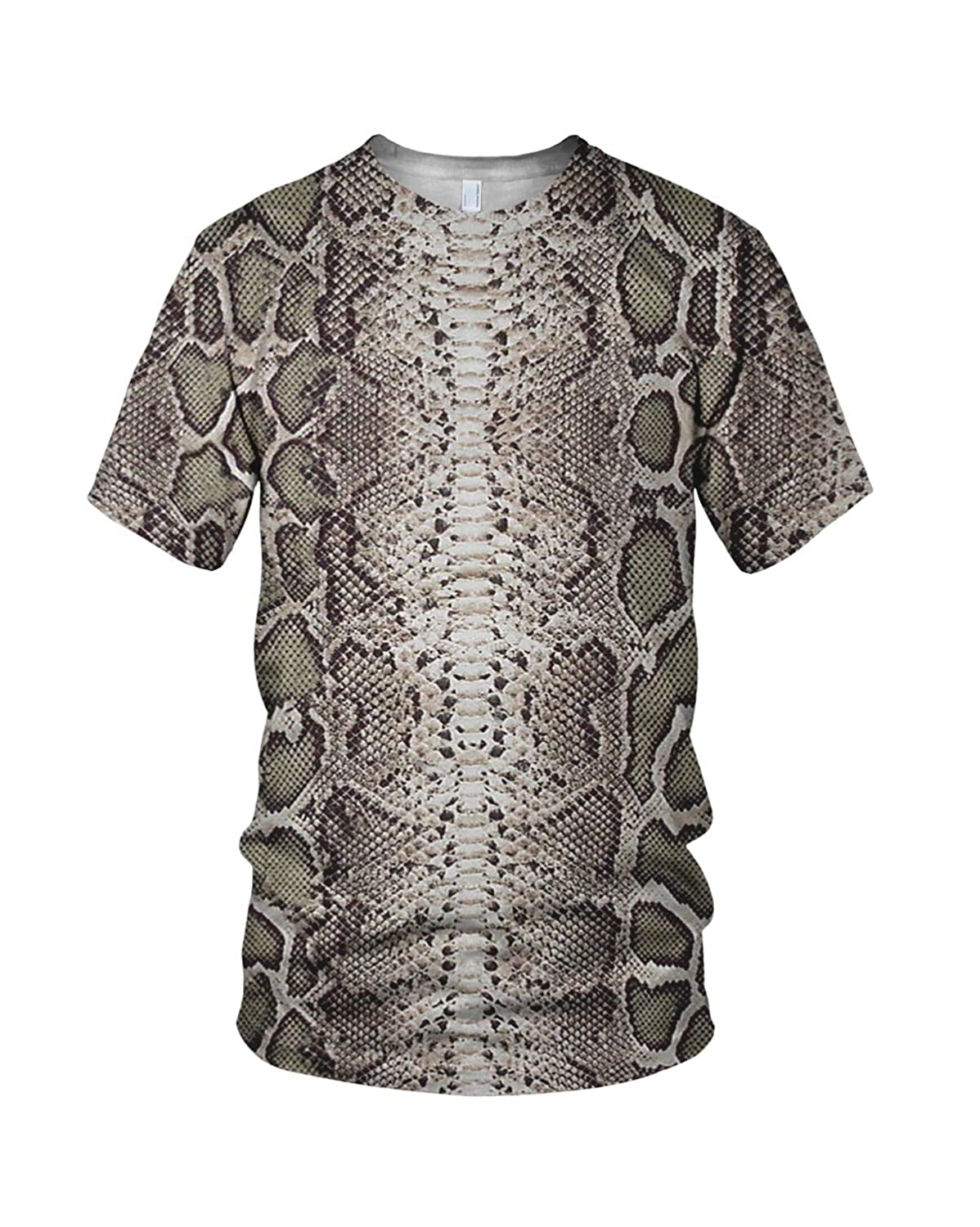 2bc46e0b Amazon.com: Zaza Men's All Over Print Snake Skin Related Fashion T Shirt:  Clothing