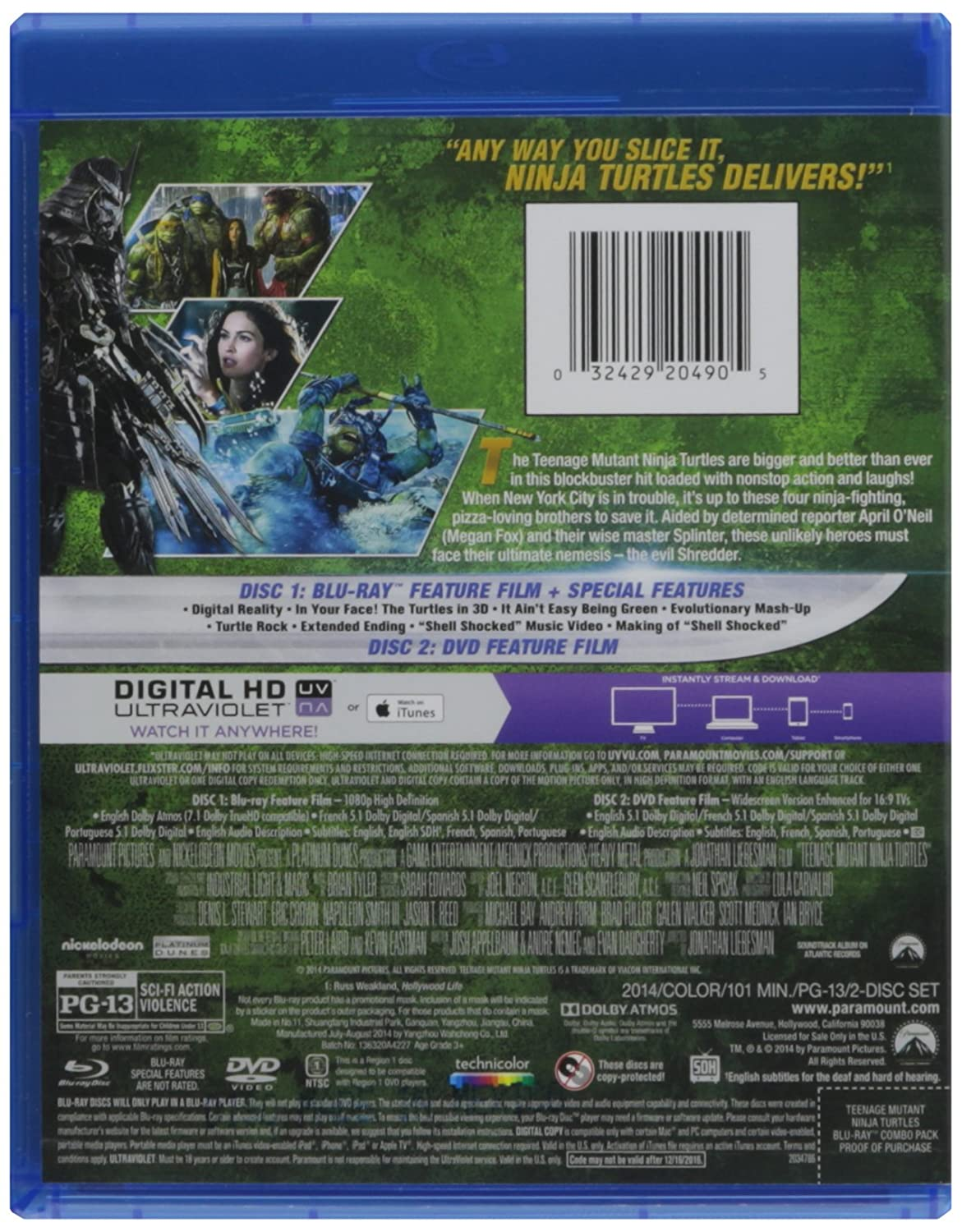 Teenage Mutant Ninja Turtles [USA] [Blu-ray]: Amazon.es ...