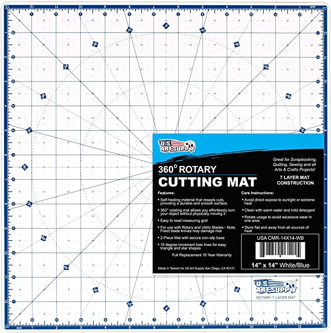 U.S. Art Supply 360-Degree Self Healing Rotating Cutting Mat