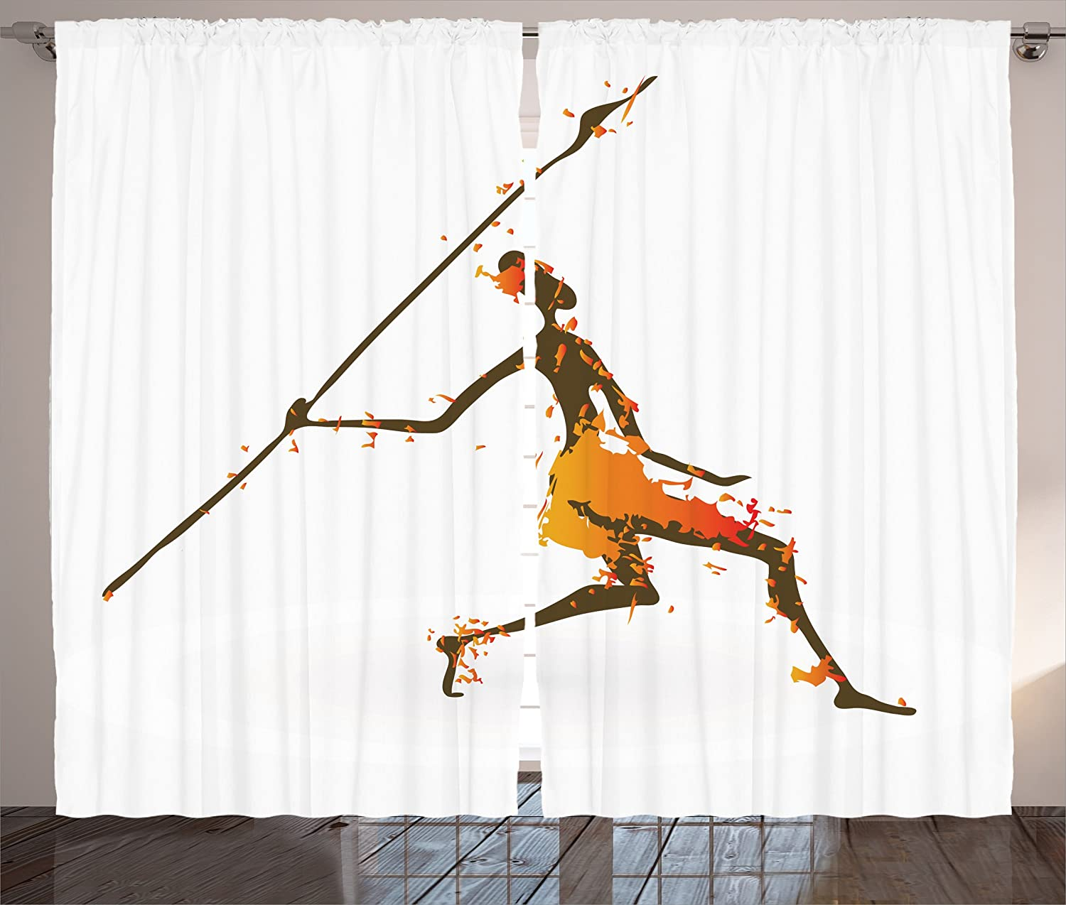 amazoncom ambesonne african decorations collection tribal hunter with digital dispersed color effects cultural man art illustration living room bedroom - Sable Color Cultura