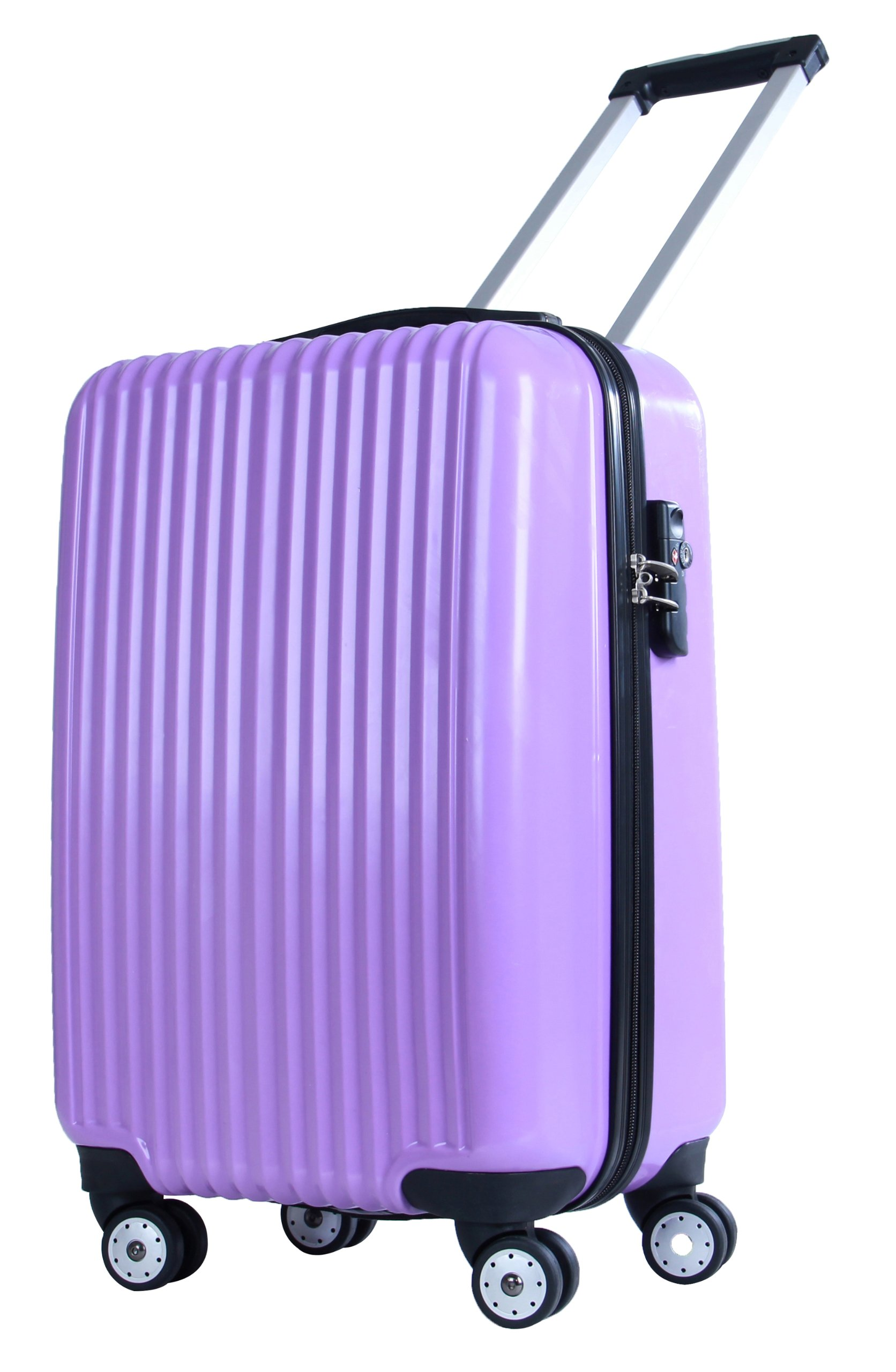 American Flyer Luggage Boson Hard-Case 21 Inch Carry-On, Purple, One Size