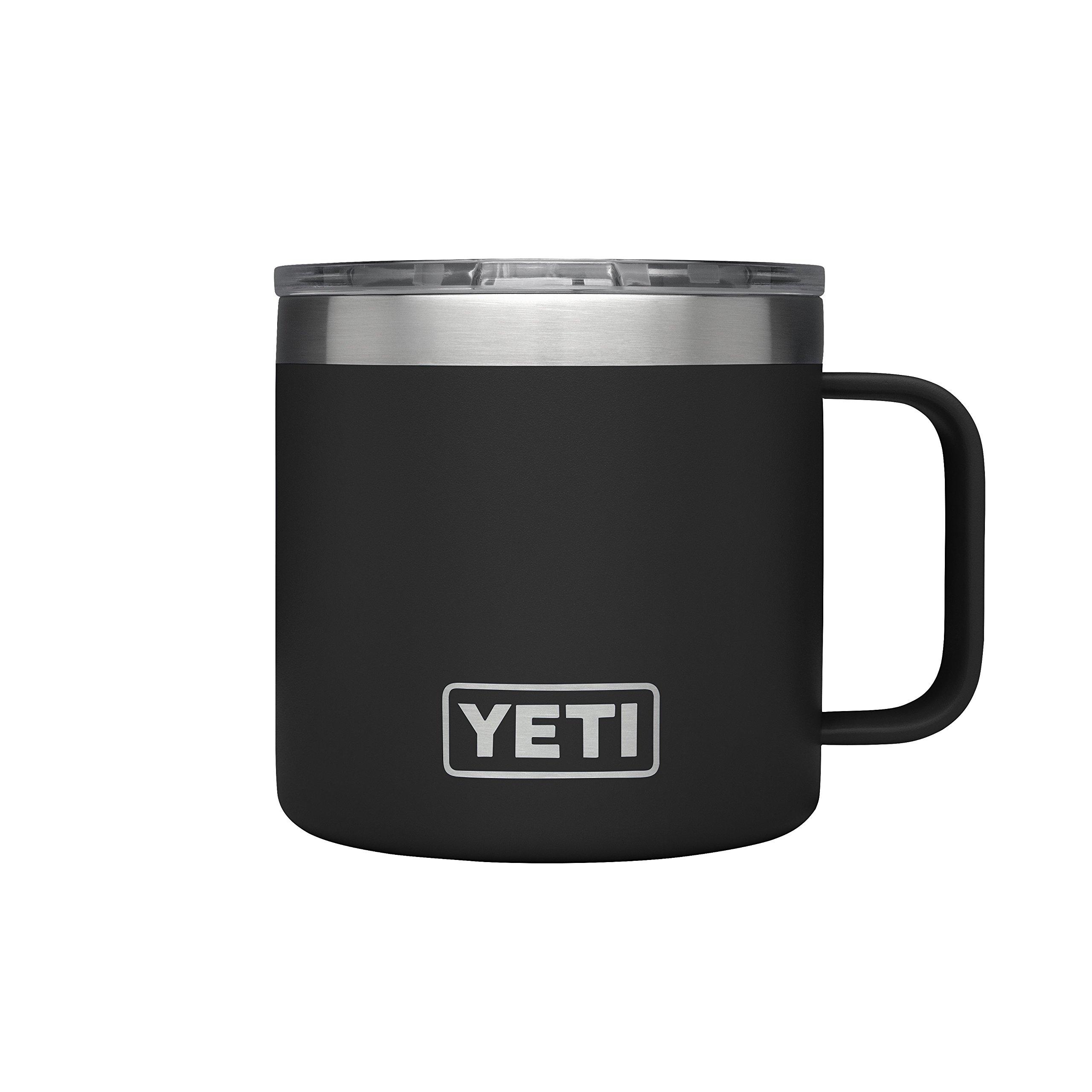 YETI Rambler 14 oz Stainless Steel Vacuum Insulated Mug with Lid, Black by YETI