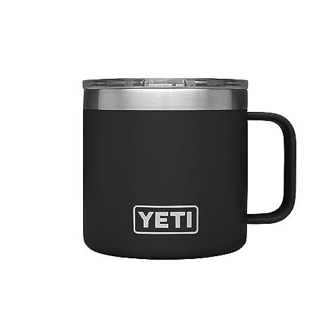16fa2e92c6b YETI Rambler 14 oz Stainless Steel Vacuum Insulated Mug with Lid, Black
