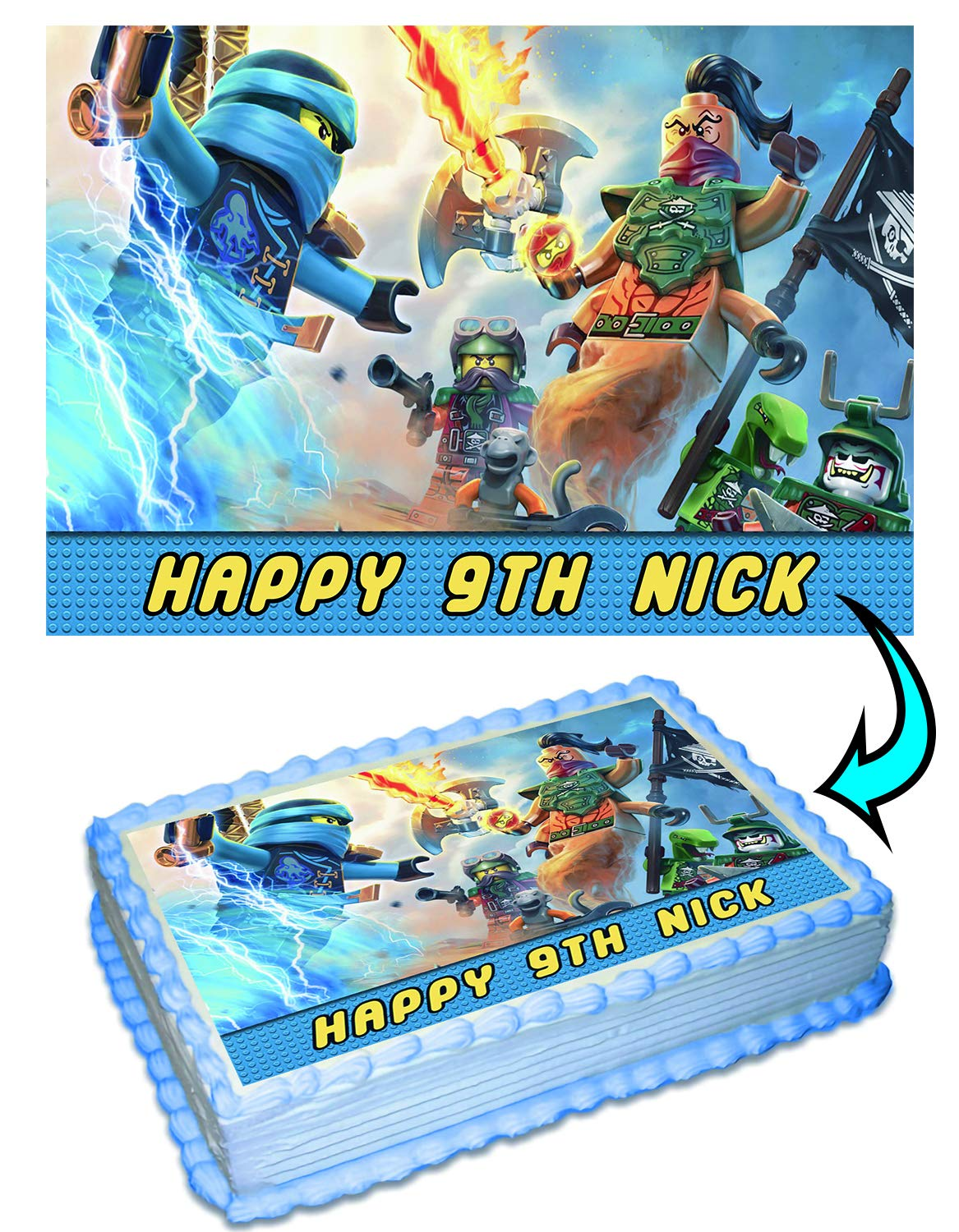 LEGO NINJA GO Personalized Cake Toppers Icing Sugar Paper ...