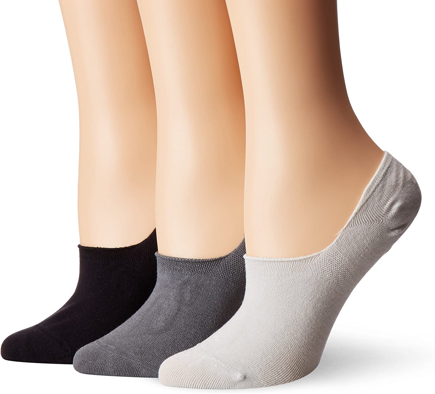 Yummie Womens Solid Bamboo Bootie Sock 3 Pack