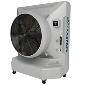Cool-Space CS6-50-VD BLIZZARD-50 26000 CFM Variable Speed Portable Evaporative Swamp Cooler with 6500 sq.' Cooling Capacity
