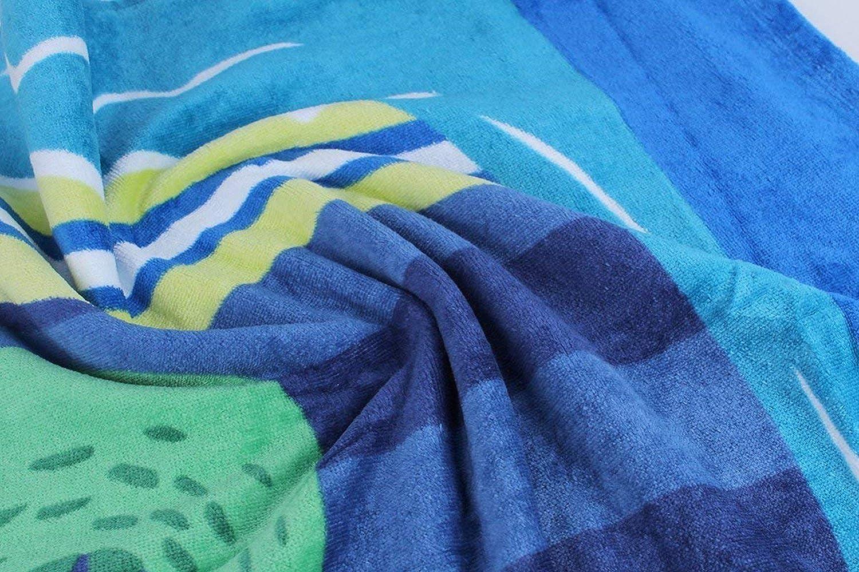 Stillshine Toalla de Playa,Ni/ños Encapuchado Beb/é Toalla de ba/ño Animal Sin Mangas Algod/ón Albornoz para Poncho Ni/ños Ni/ñas 3-14 A/ños,100/% algod/ón Premium 76 Cocodrilo de Surf 127cm