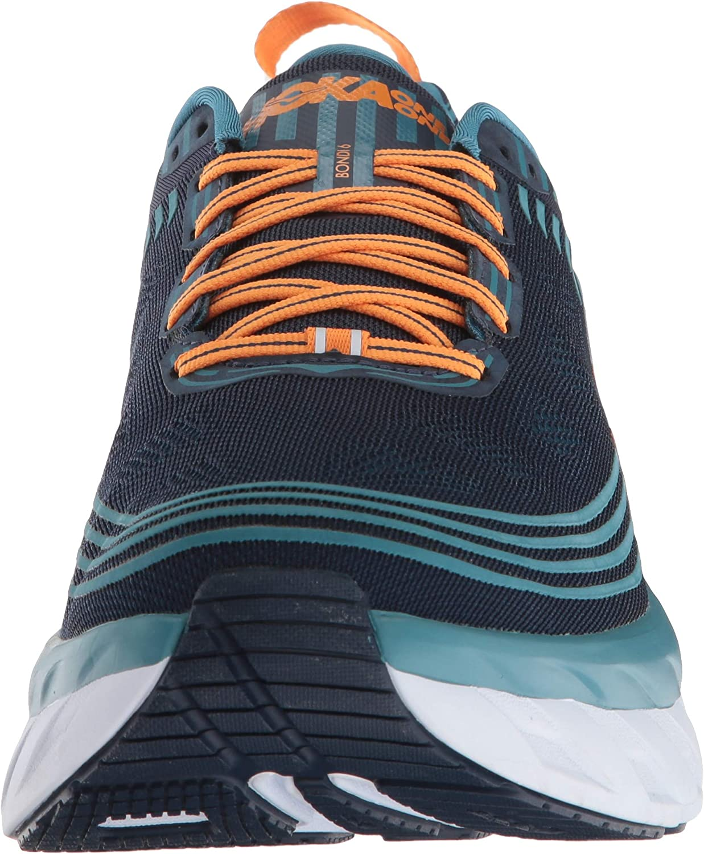 HOKA ONE ONE Mens Bondi 6 Running Shoe Black Iris//Storm Blue 11.5 US