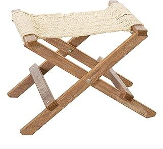product image for Nags Head Hammocks Cumaru Folding Rope Footstool, Oatmeal DuraCord