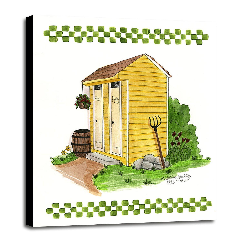 Amazon.com - Yellow Double Outhouse-DEBMCM89764 Print 25\