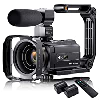 4K Video Camera Camcorder with Microphone, VAFOTON 48MP Vlogging Camera for YouTube 16X Zoom 3.0
