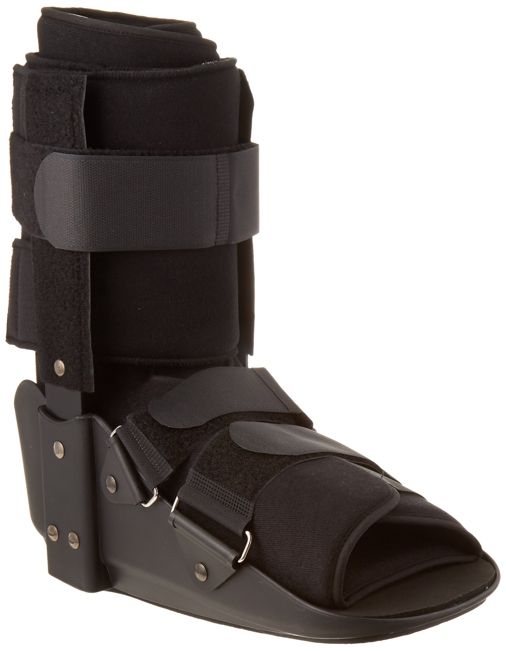 Sammons Preston Large Low Profile Fixed Ankle Walker Low, Comfort Brace for Recovery and Rehabilitation, Medical and Patient Use for Fractures, Ankle Sprains, Foot Injuries, Long Time Wear