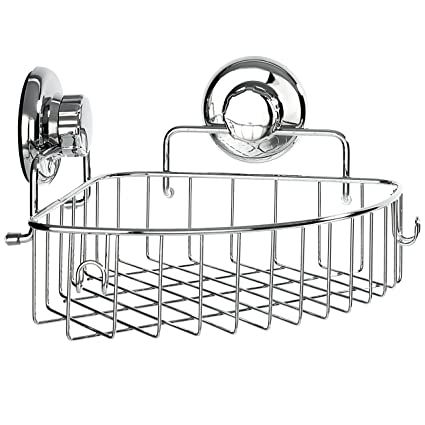Amazon.com: HASKO accessories - Corner Shower Caddy with Suction Cup ...