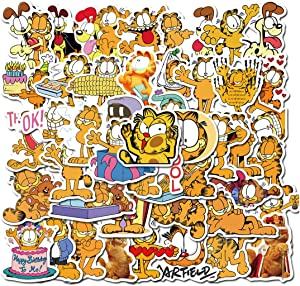 ARPA 50Pcs Cute Garfield Stickers for Laptops Books Cars Motorcycles Skateboards Bicycles Suitcases Skis Luggage Cup Hydro Flasks etc DJHSL