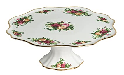 Royal Doulton Royal Albert Old Country Roses Pedestal Cake  sc 1 st  Amazon.com : old cake plates - pezcame.com
