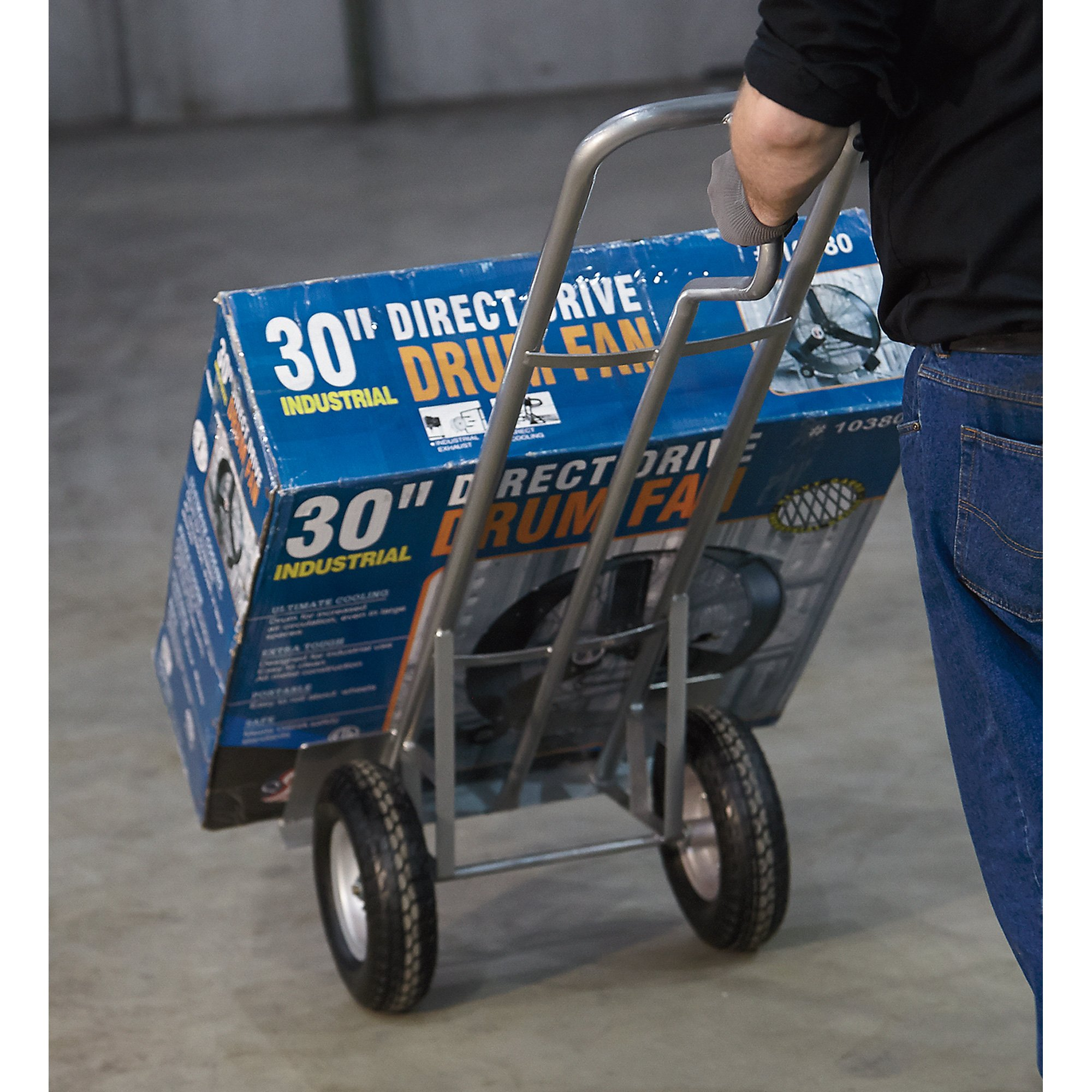 Roughneck Hand Truck - 1,000-Lb. Capacity, P-Handle, Oversized Toe Plate