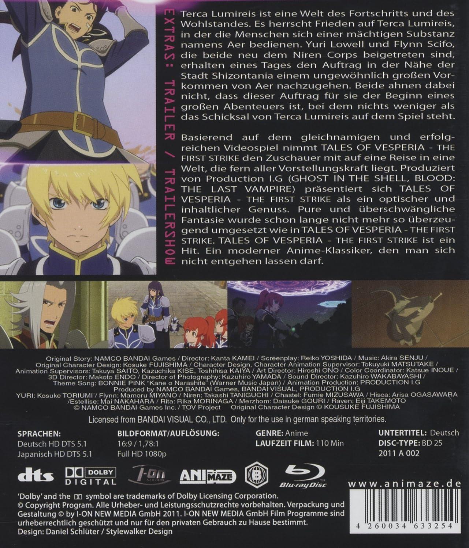 Tales of Vesperia - The First Strike Alemania Blu-ray ...
