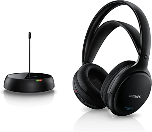 Philips SHC5200/10 Cuffie Hifi Wireless (32 Millimetri al Neodimio, 24 Ohm, 100 Db), Nero