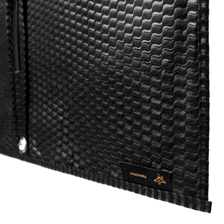 Hangerworld 1 Funda de Ropa 102cm Porta Traje Nuevo Dise/ño con Ondas Negro Transpirable y Cremallera