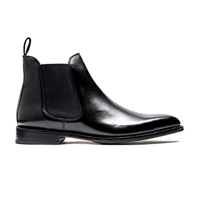 9f0a49795ae Timberlux New York Black Chelsea Calfskin Leather Boots, Men Leather Shoes