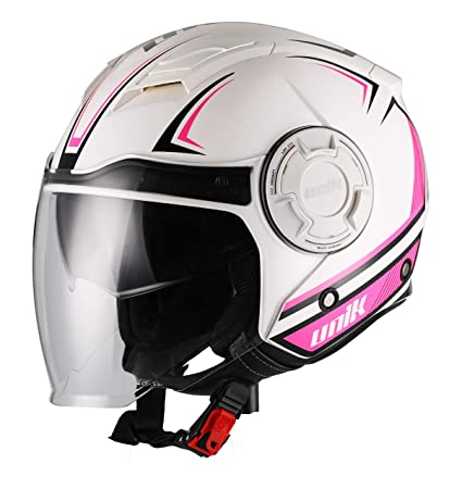 Amazon.es: Unik - Casco JET Trial CJ-11 Con Gafa Solar Volt ...